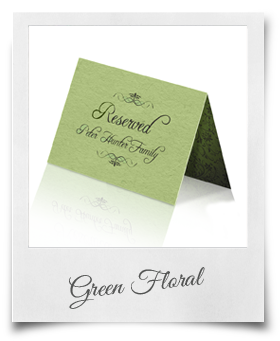 Green Floral - Reserved Cards
