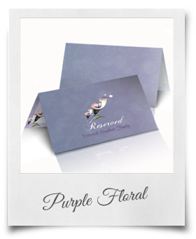 Purple Floral - Reserved Cards