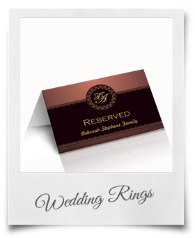 Wedding Rings - Reserved Cards