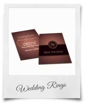 Wedding Rings - Save The Date